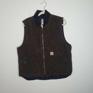 Carhartt V02 Sandstone Vest Full-Zip Cotton Brown